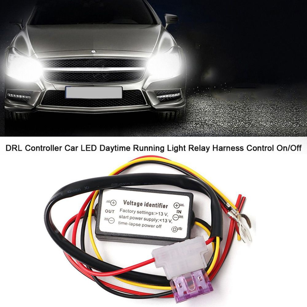 Dimmer Harness On Off Daytime Running Light Control Car Drl Lamp Power Relay Shopee Malaysia