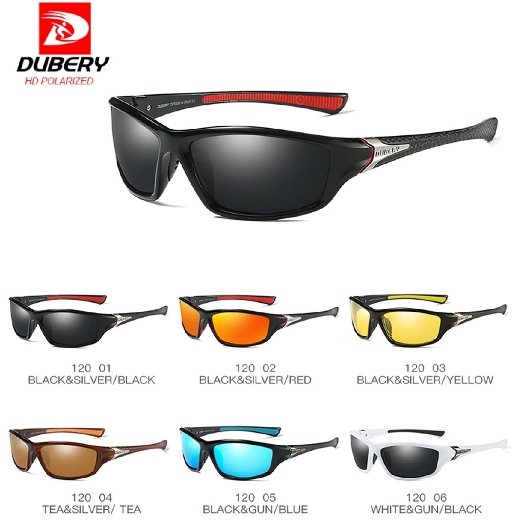 DUBERY Polarized Men Driving Goggles Outdoor Cycling Sunglasses Glasses UV400