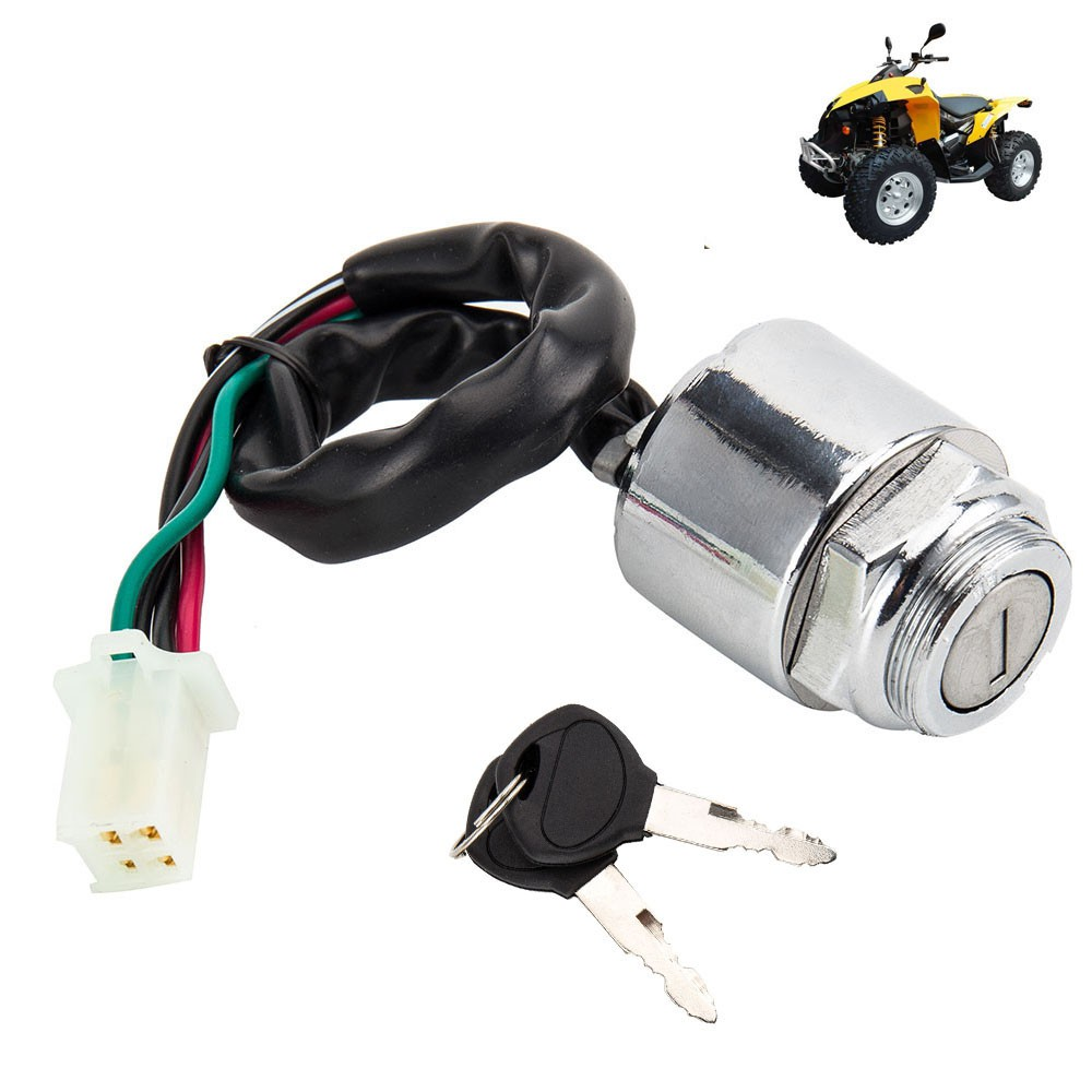 2 Wire Ignition Key Switch For Honda Cb100 Cl100 Sl100 Sl125 Cl70 Wiring Motosport 100 125 Shopee Malaysia