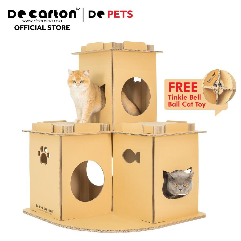 De Carton Cardboard Meow Villa (Vila Kucing)