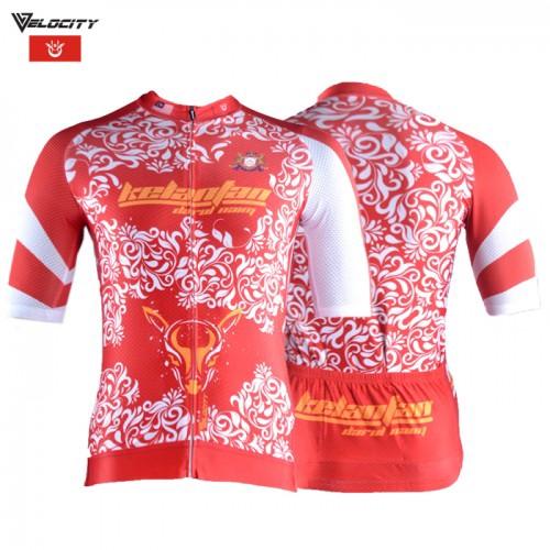 Velocity Velocool Unisex Polyster Cycling  Kelantan Jersey  V.1
