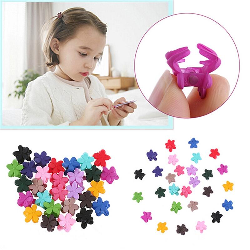 5Pc Colorful Cute Flower Print Gripper Claw Hair Clip Clamp Hair Accessory