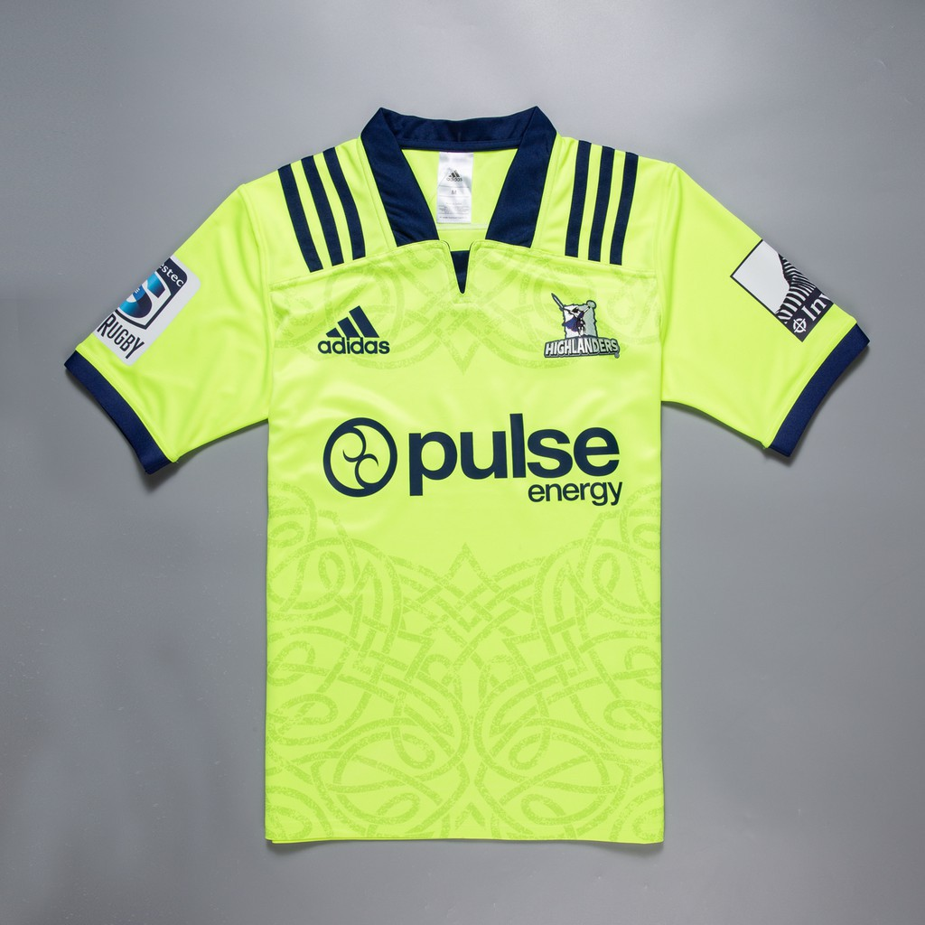 adidas Mens Highlanders 2018 Alternate Super Rugby Shirt Top Jersey Green