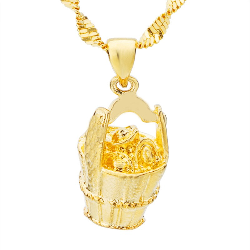 88b18d1286412 24k gold plated bucket pendant gold bucket pendant sand gold necklace