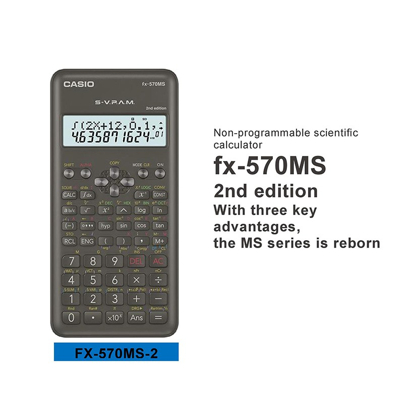 Casio fx-570MS Scientific Calculator New Edition