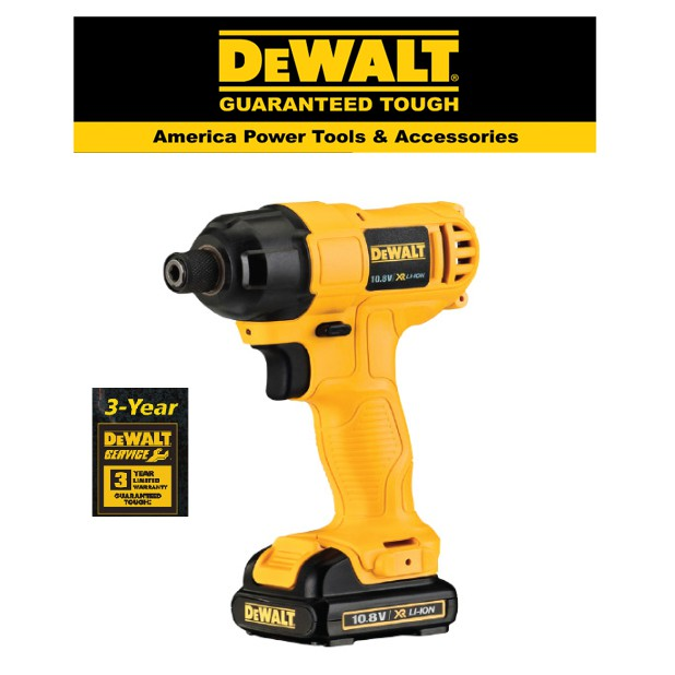 """Dewalt DCF805C2A-10.8V Cordless 1/4"""" Impact Driver With 27pcs Standard Accessories, 2pcs Batteries & 1pc Charger"""
