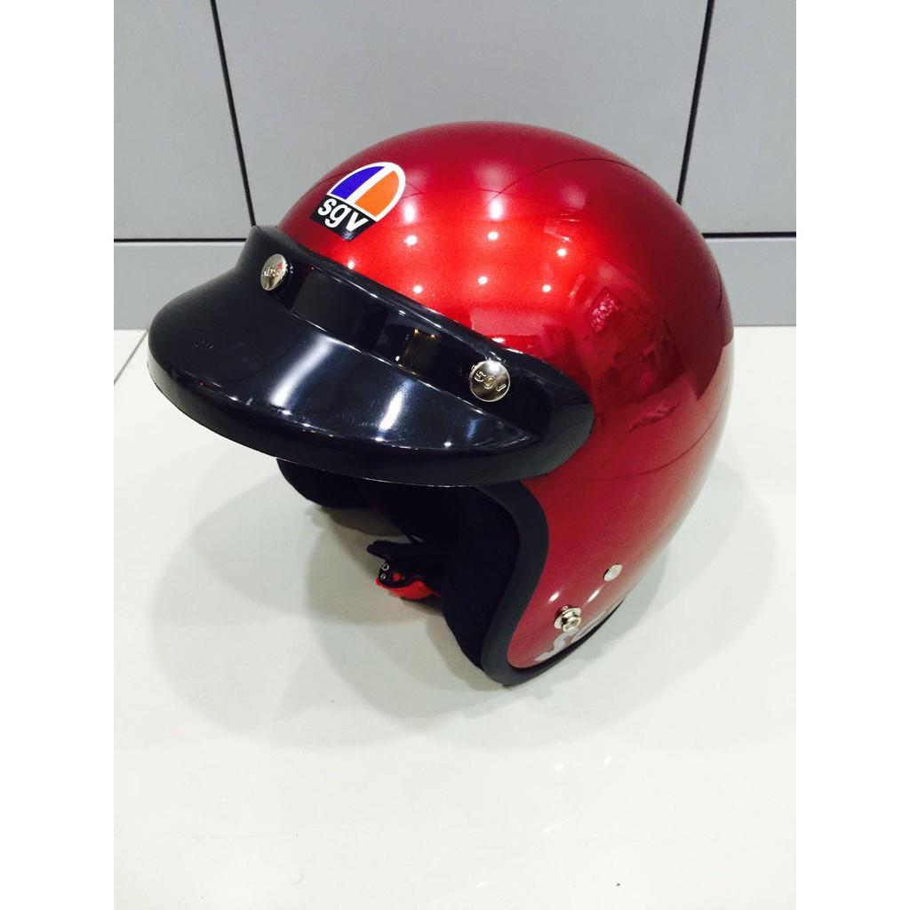 Helmet Sgv Matt Color Shopee Malaysia Helm Glossy Racing Spirit White Blue