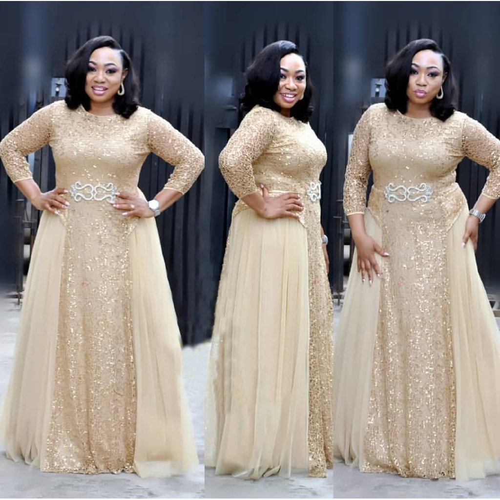 Evening Dress Plus Size Women Long Party Gown Full Dress Formal Dress For Fat Shopee Malaysia