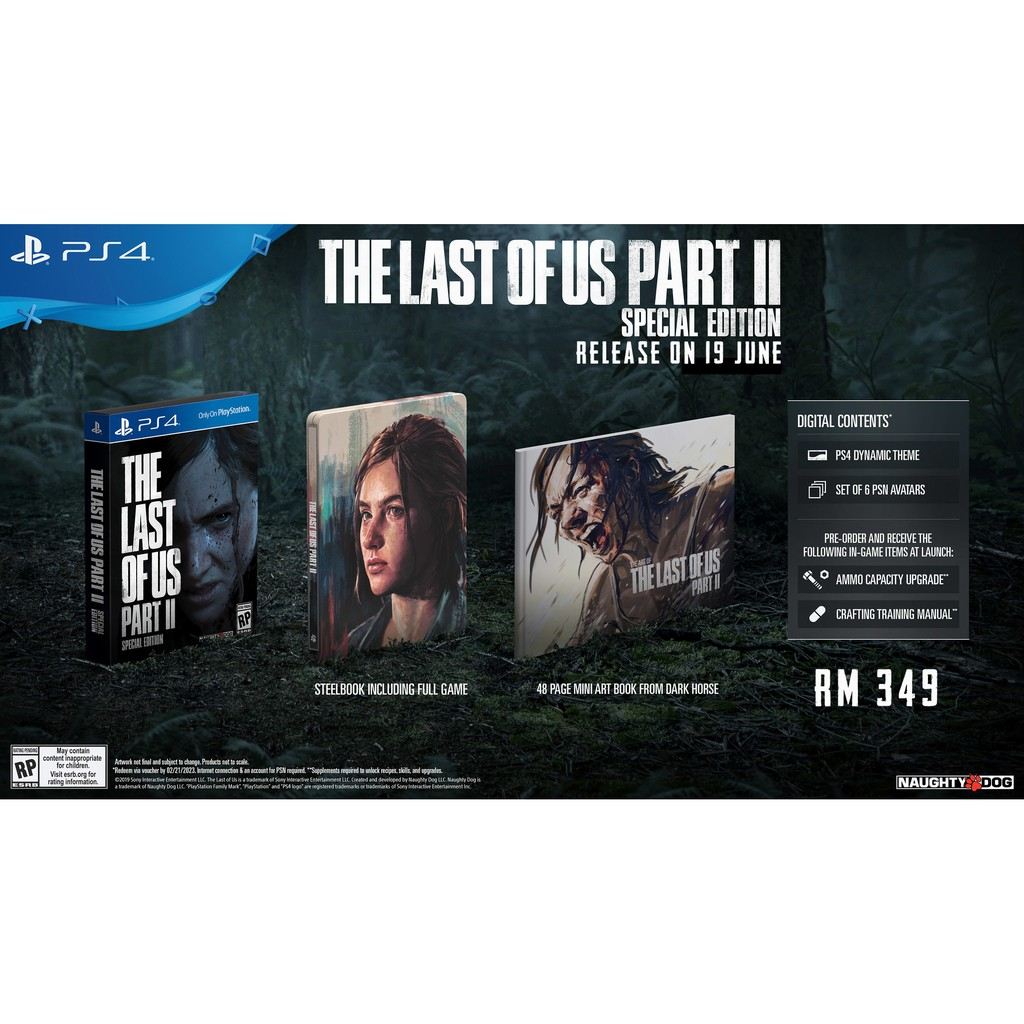 PS4 THE LAST OF US PART II / PART 2 SPECIAL EDITION (R3/ENG)