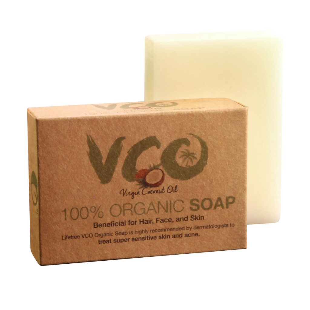 Lifetree Virgin Coconut Oil Soap Organic (for Face & Body)