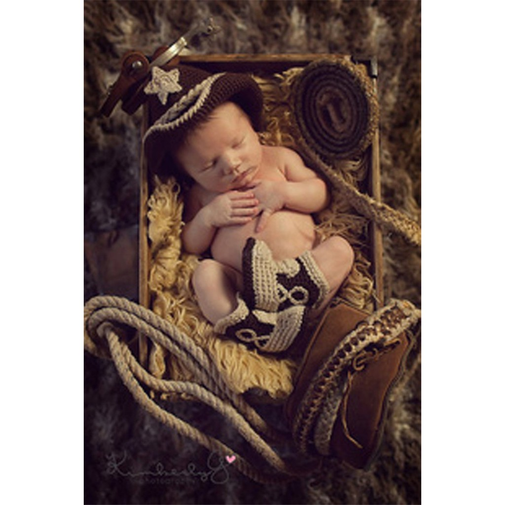 f9b6cac0512857 ProductImage. ProductImage. Fashion Newborn Boy Girl Baby Outfits  Photography Props Cowboy Hat Boots