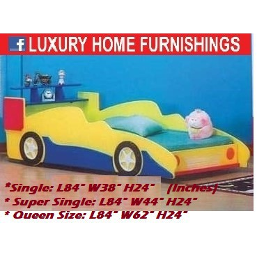 Sports Car  Bed, Standard Queen  Size, Could Choose Color Combination, RM 1,789!! SAVE 45%!!