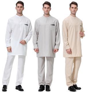 7096746e0bb Muslim Clothing Men Arab Dress Jubba Thobe Arabic Islamic Abayas Kaftan Robe