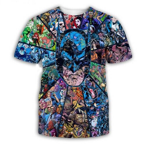 X-MEN COMIC surperman 3D print Casual T-Shirt Fashion WomenMen Short Sleeve Tops