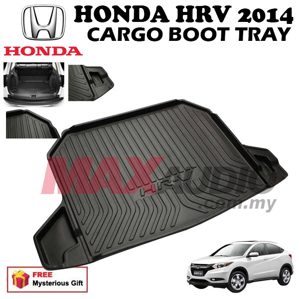 [FREE Gift] HONDA HRV 2011-2015 ABS RUBBER NON SLIP REAR TRUNK BOOT CARGO TRAY