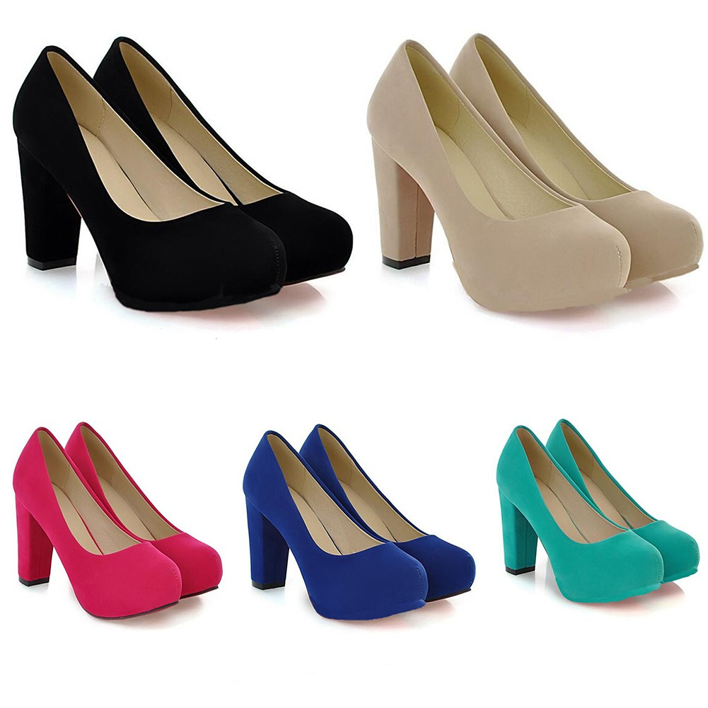 GZHOUSE 34-43 Size High Heels Platform Shoes Women Buckle