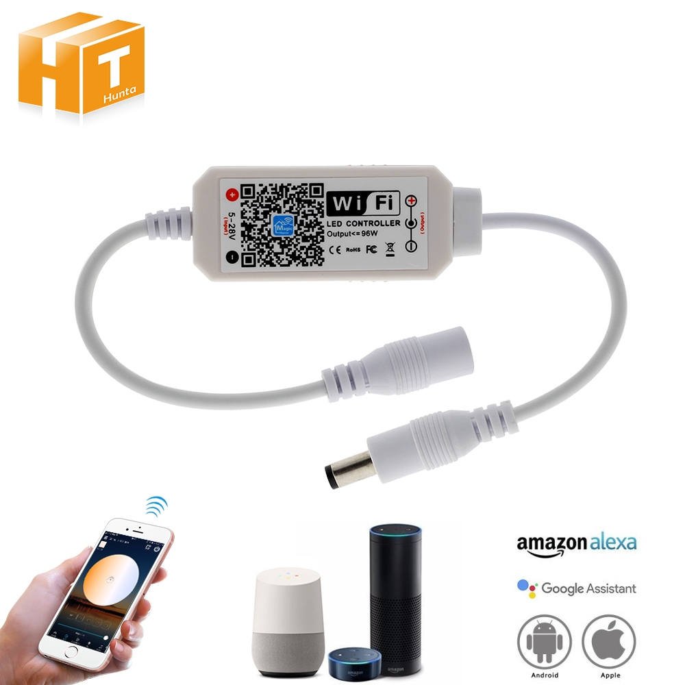 DC 5-28V Magic Home Mini Dimmable Wireless APP WiFi Controller for Single  Color LED Strip Light