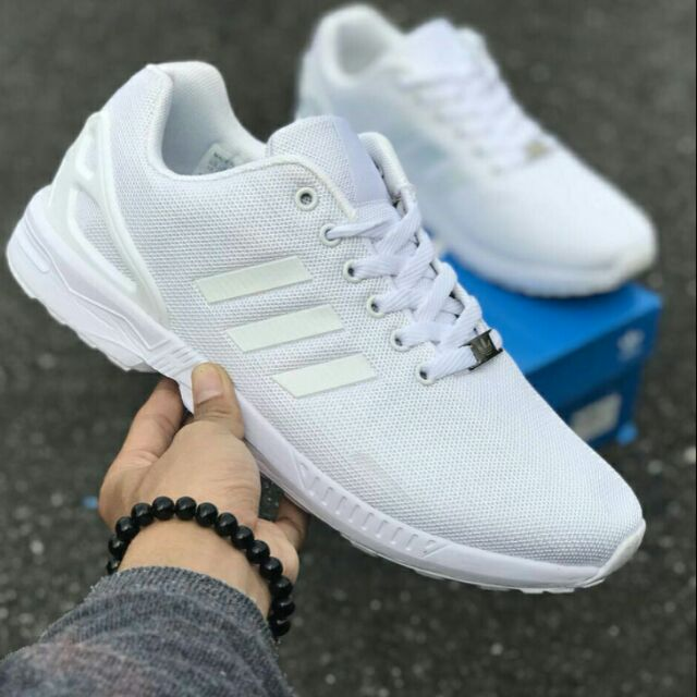 new style f1704 b5ea0 Adidas ZX Flux All White
