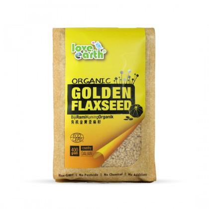 Love Earth Organic Golden Flaxseed 400g 乐儿有机黄金亚麻籽 400公克 (袋装)