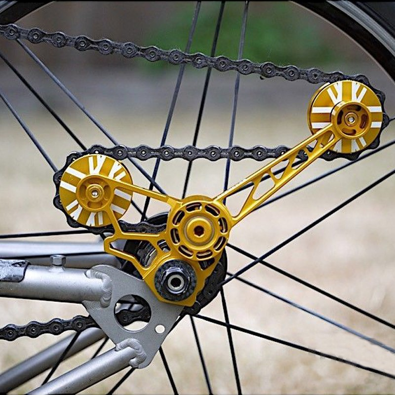 AGEKUSL Chain Tensioner Brompton Bike Pulley Wheel Rear Derailleur Guide Wheels
