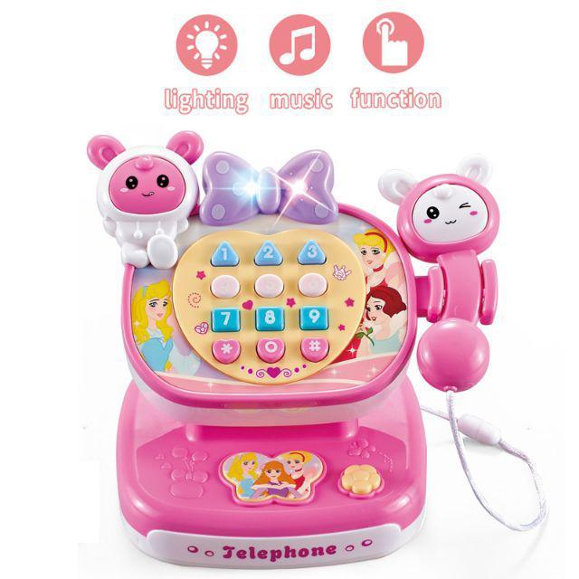 [ READY STOCK ]  Retro Children Phone Toy Phone Early Education Baby Telephone Musical Toy Jualan Murah Budak Mainan Led
