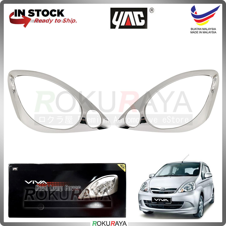 [CHROME] Perodua Viva Custom Fit ABS Plastic Car Head Lamp Eye Lid Brow Cover