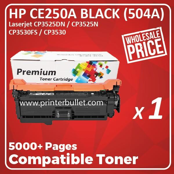 HP 504A CE250A Black Toner Cartridge (Compatible)