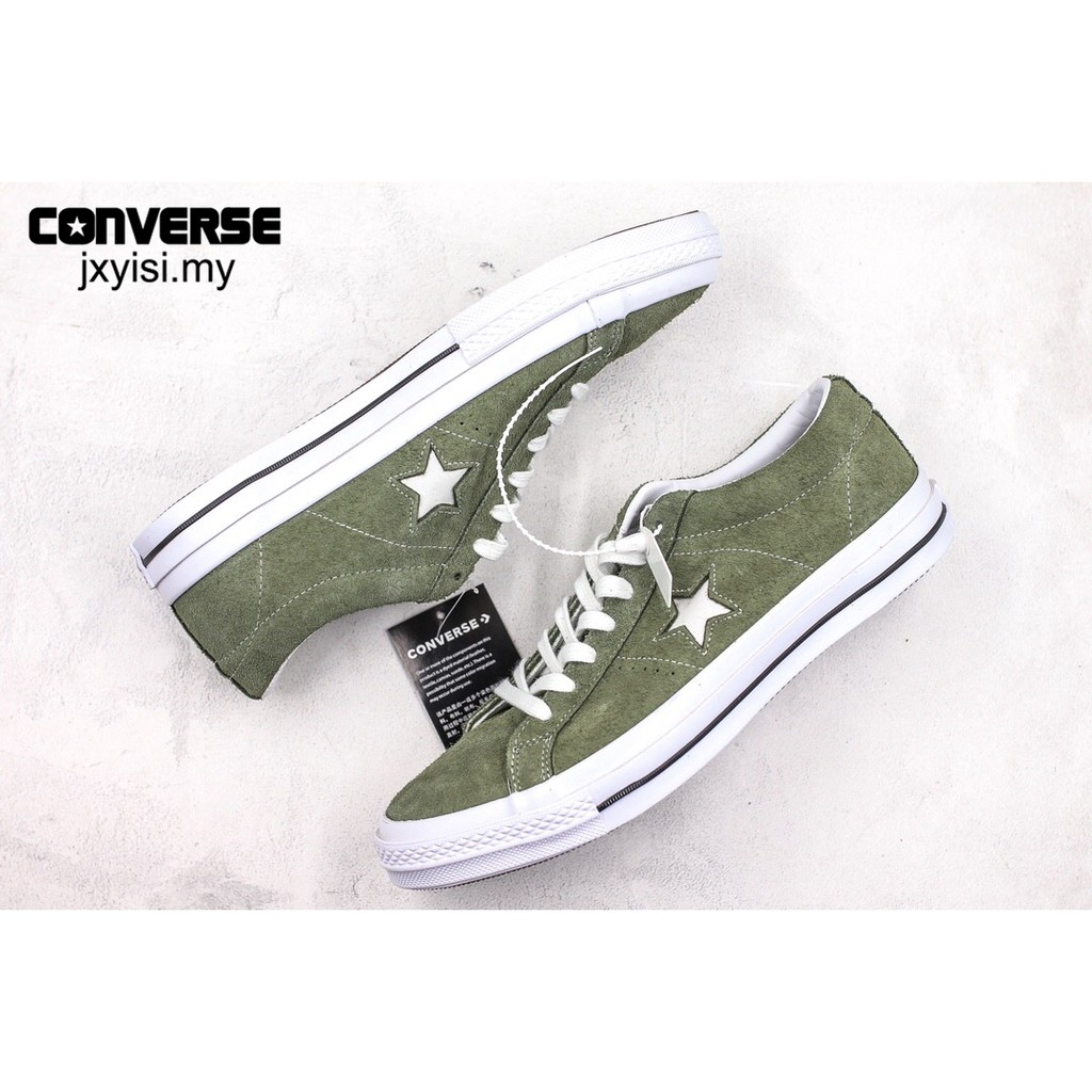 Converse one star classic sneakers Men fashion leather shoes black Lelaki Kasut | Shopee Malaysia