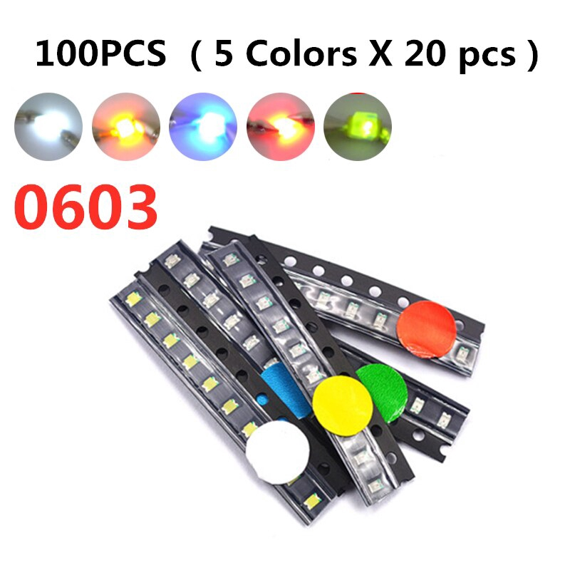 100PCS Yellow LED 0603 Yellow Light SMD SMT LED Diodes Emitting Bright