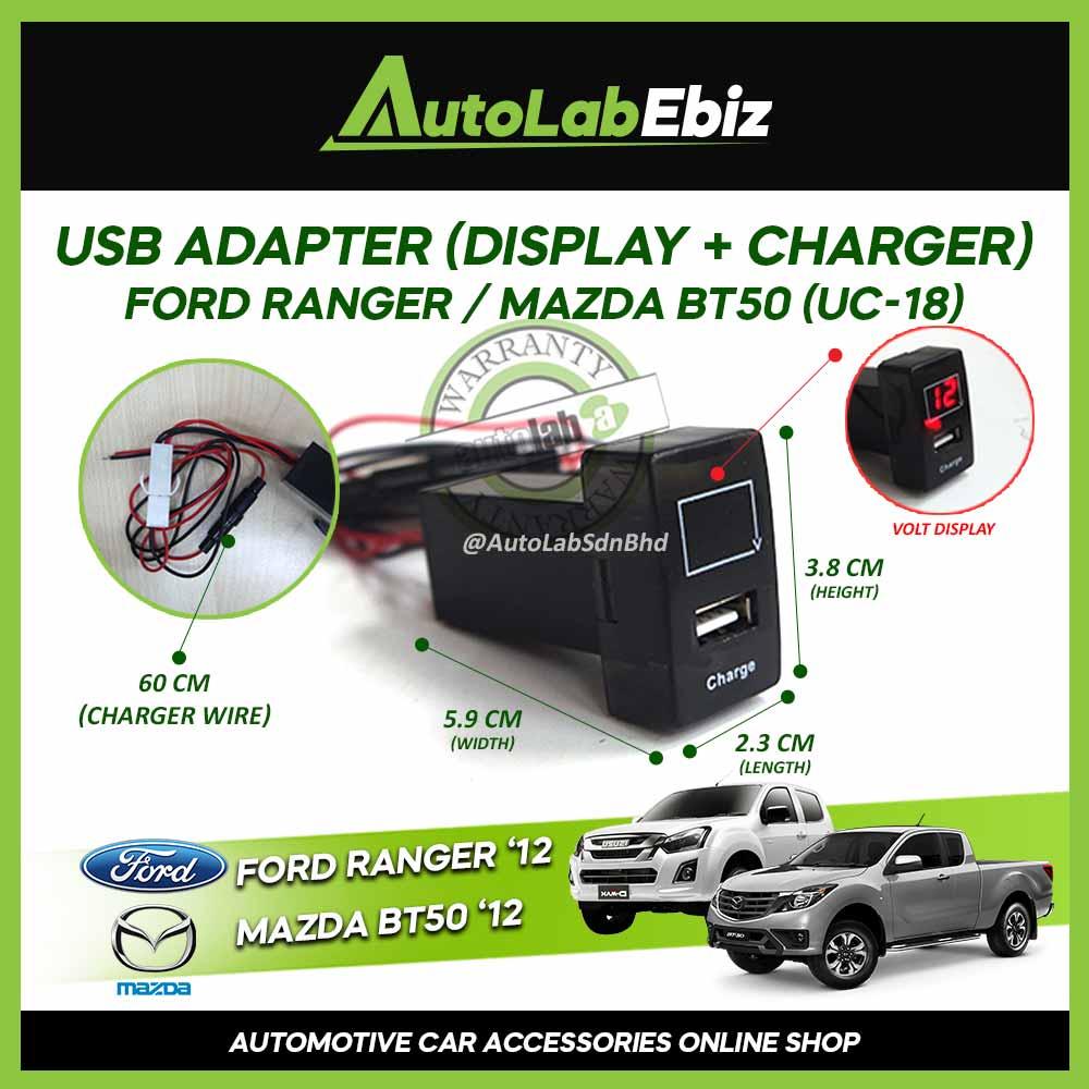 OEM USB Ford Ranger / Mazda BT50 2012-Onward for Display Volt  + Charger【UC-18】