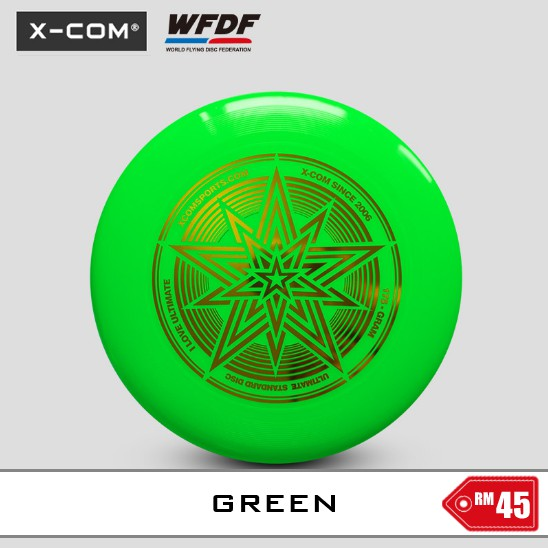 Official 175g Ultimate Frisbee Disc [X-Com Green]