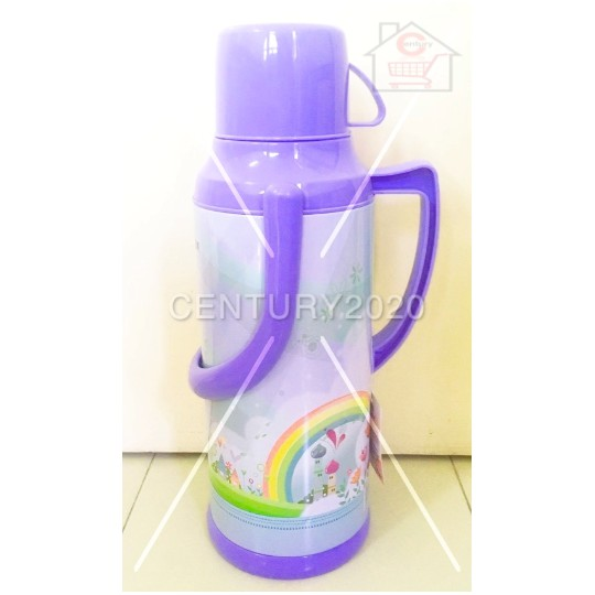 RIMEI Iron Shell Thermos Fashion Design Thermos Household Exquisite Hot Water Bottle Glass Inner 2L Capacity Vacuum Flas