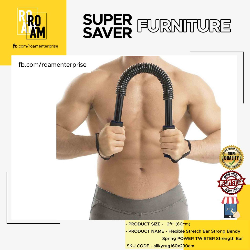 (Ready Stock)Flexible Stretch Bar Strong Bendy Spring POWER TWISTER Strength Bar