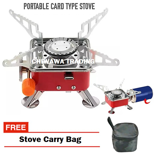 【FREE Carry Storage Bag】Powered Portable Card Type Steamboat Gas Stove 1 Burner