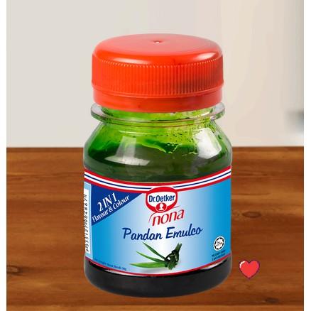 Dr.Oetker Nona pandan emulco 2 in 1 Flavour & Colour @ 50g ( Free Fragile + Bubblewrap Packing )