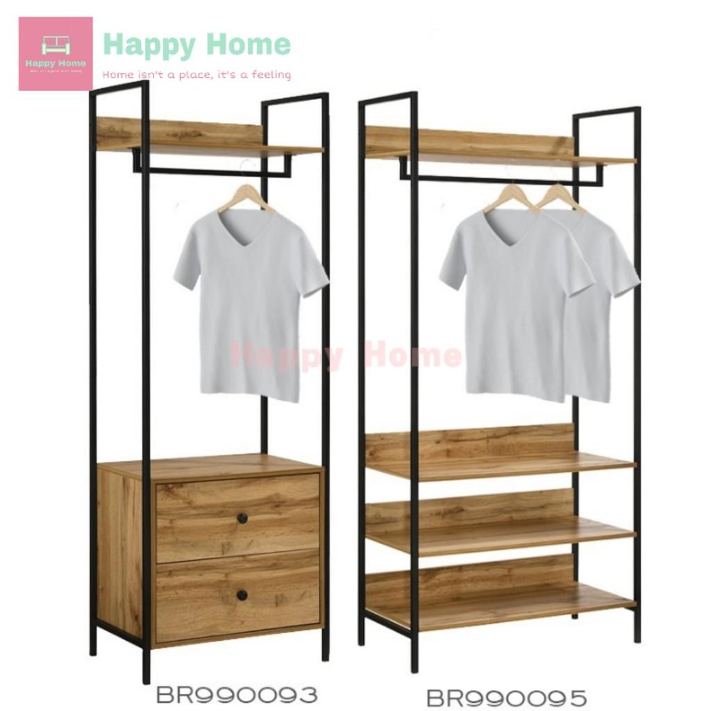 Normad Industrial Style Garment Rack Rak Baju Ikea Rak Baju Kayu Rak Kayu Besi Almari Baju Ikea Almari Baju Murah Shopee Malaysia