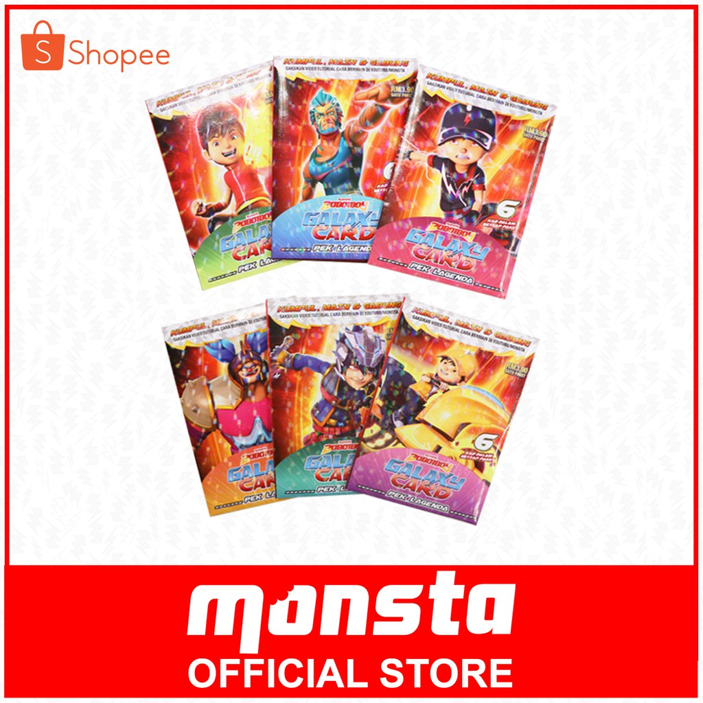 Boboiboy Galaxy Cards