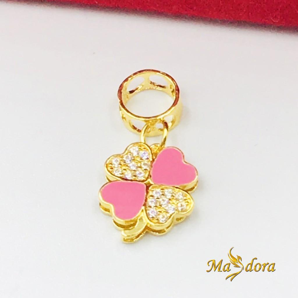 Masdora Charms and Beads ~ Colourful Flowers Series (Emas 916)