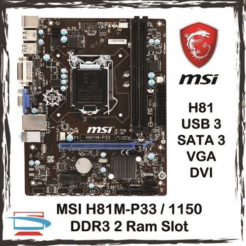 MSI H81M-P33 Socket 1150 DDR3 Intel H81 Motherboard