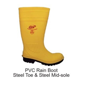 High Quality OSP Safety Rubber Boots With Steel Toe Cap and Mid Sole