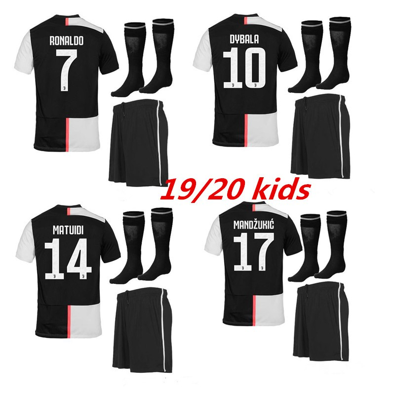 low priced 68b20 7e635 2019 juventus home kids soccer jerseys top quality children suit with sock