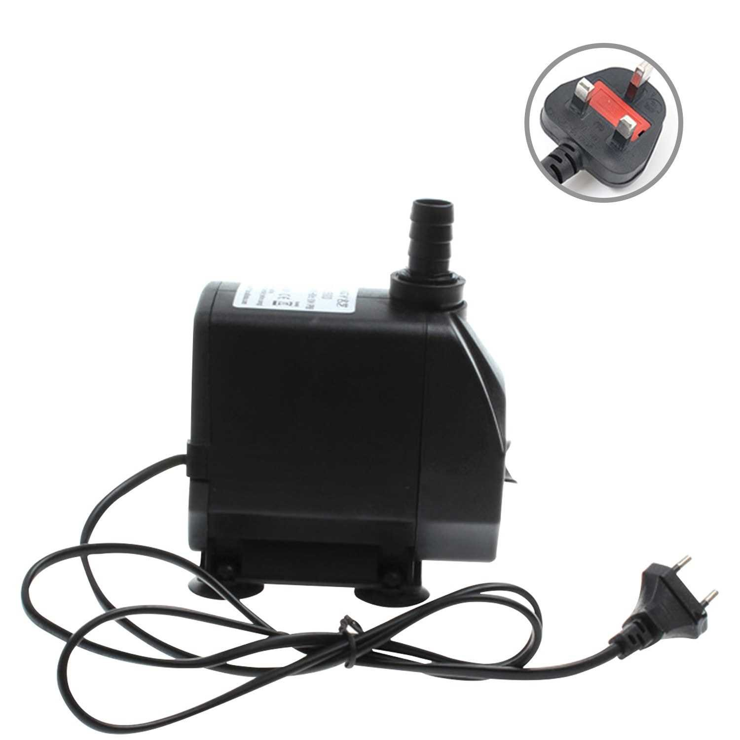 60W 3500L/H Submersible Water Pump with 11ft High Lift Mini Fountain Pump Ultra Quiet Water Pump for Aquarium Fish Tank