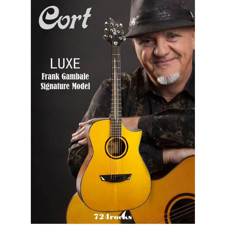 Guitars & Basses Musical Instruments & Gear Sporting Cort Luxe Frank Gambale Signature Natural Acoustic Guitar
