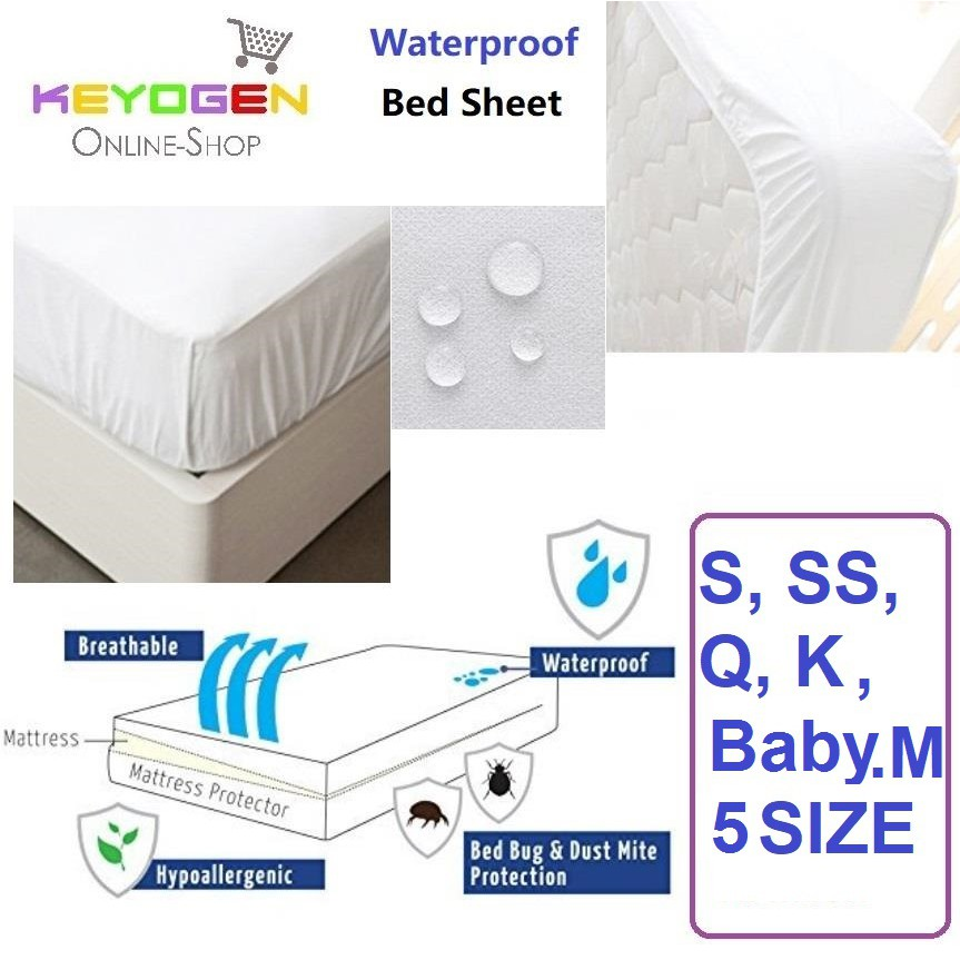 Waterproof Soft Breathable Bed Sheet Mattress Protector   Single | Shopee  Malaysia