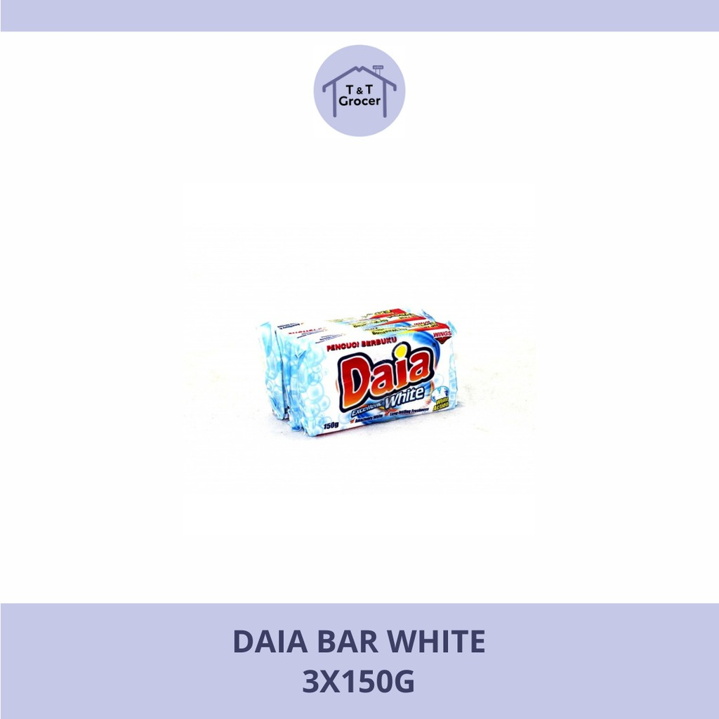 Daia Bar 3x150g (Floral, Lemon, White)