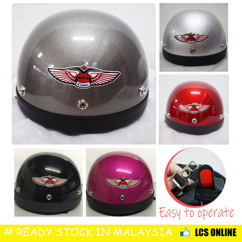 MHR 3 Half helmet (100% ORIGINAL)#Helmet KURA [L Size]