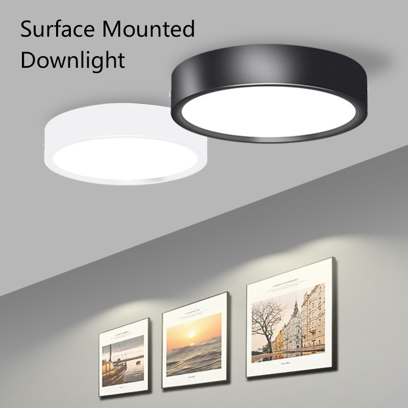 Led Downlight Round Surface Mounted 5w 10w 15w Modern Led Ceiling Lights For Living Room 220v Spot Led Light Fixture Shopee Malaysia