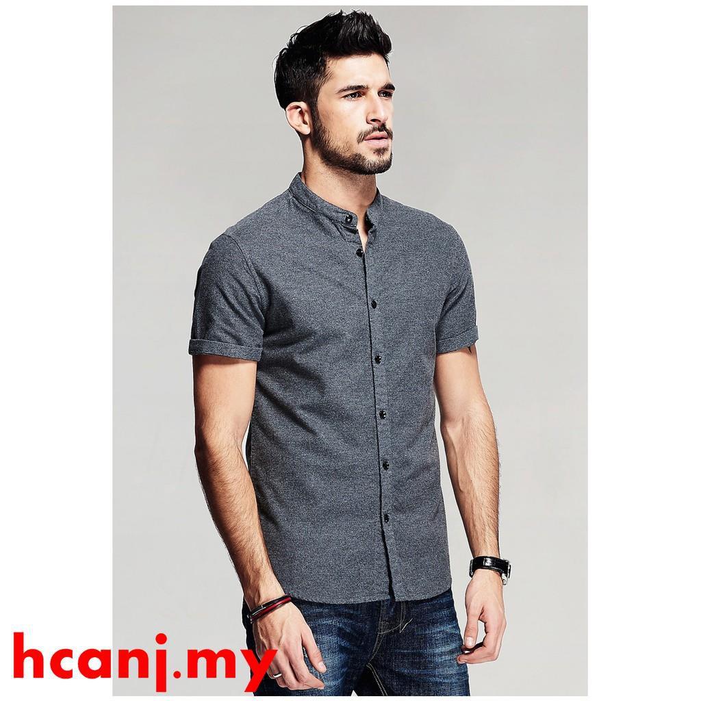 Rrive Mens Slim Fit Denim Casual Short Sleeve Pockets Button Down Shirts