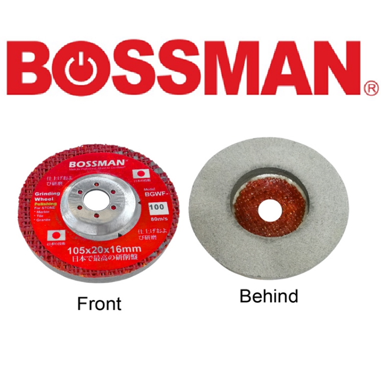 BOSSMAN GINDING WHEEL FOR STONE (FINISHING) ACCESSORIES EASY USE SAFETY GOOD QUALITY