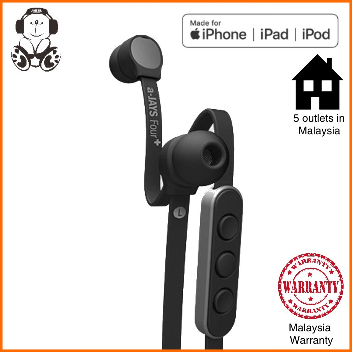A-Jays Four+ Cable In-Line Mic Heavy Bass Earphone for iOS with Flat Cable Tangle Free
